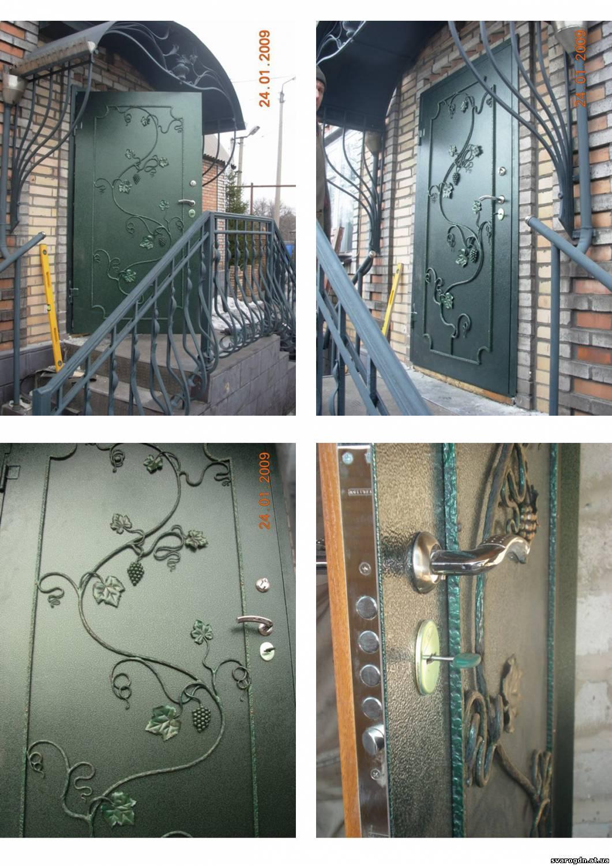 Как декорировать входную металлическую дверь своими руками
